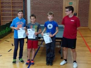 Die Sieger in der Kinder- und Jugendlichenklasse: Keanu Witt, Tom Hubert und Bastian Büttner