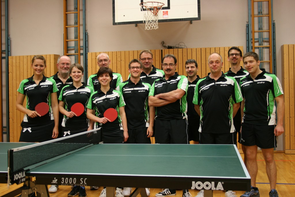 Die aktiven Spielerinnen und Spieler der Abteilung Tischtennis