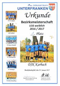 2017-01-29_Urkunde_Bezirksmeisterschaft_U16_weiblich
