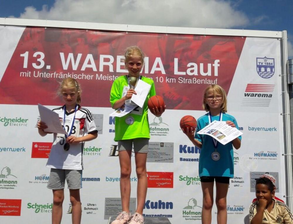 Erfolgreiche Kinder bei Warema-Lauf